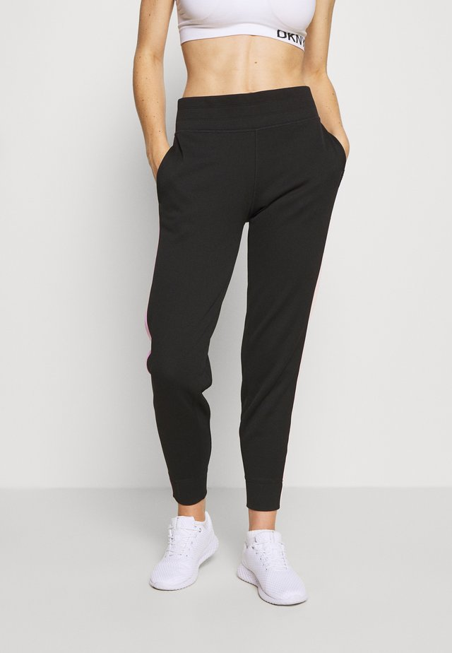 FLIP CONTRAST PANEL JOGGER - Tracksuit bottoms - black