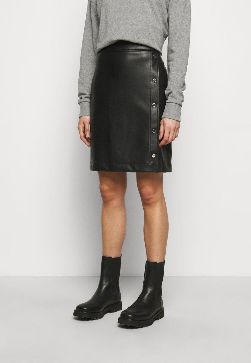 HUGO - RULENA - Pouzdrová sukně - black