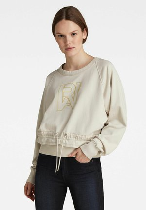 RAW DRAWCORD - Sweatshirt - beige
