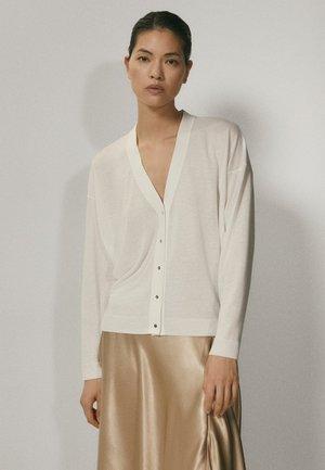 MIT V-AUSSCHNITT  - Cardigan - white