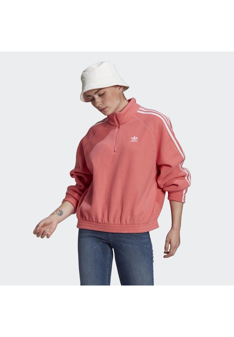 adidas Originals - FLEECE HZ - Fleecetröja - hazy rose