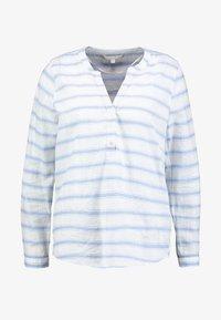 TOM TAILOR DENIM - STRIPED HENLEY BLOUSE - Bluzka - white/light blue - 4