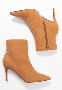 Anna Field - High heeled ankle boots - cognac - 3
