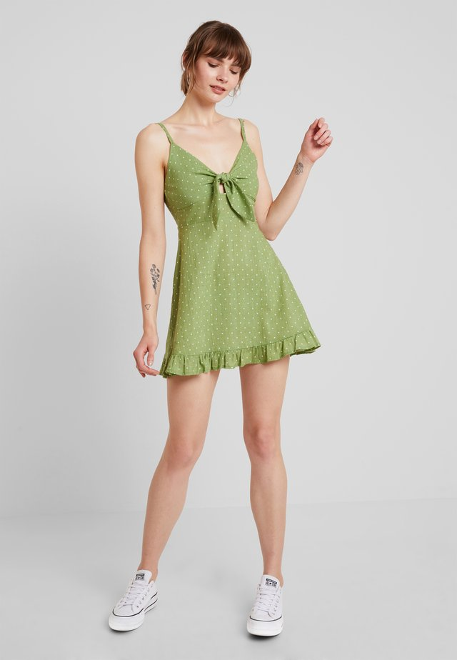 SAFARI STAR LIGHT MINI DRESS - Korte jurk - green