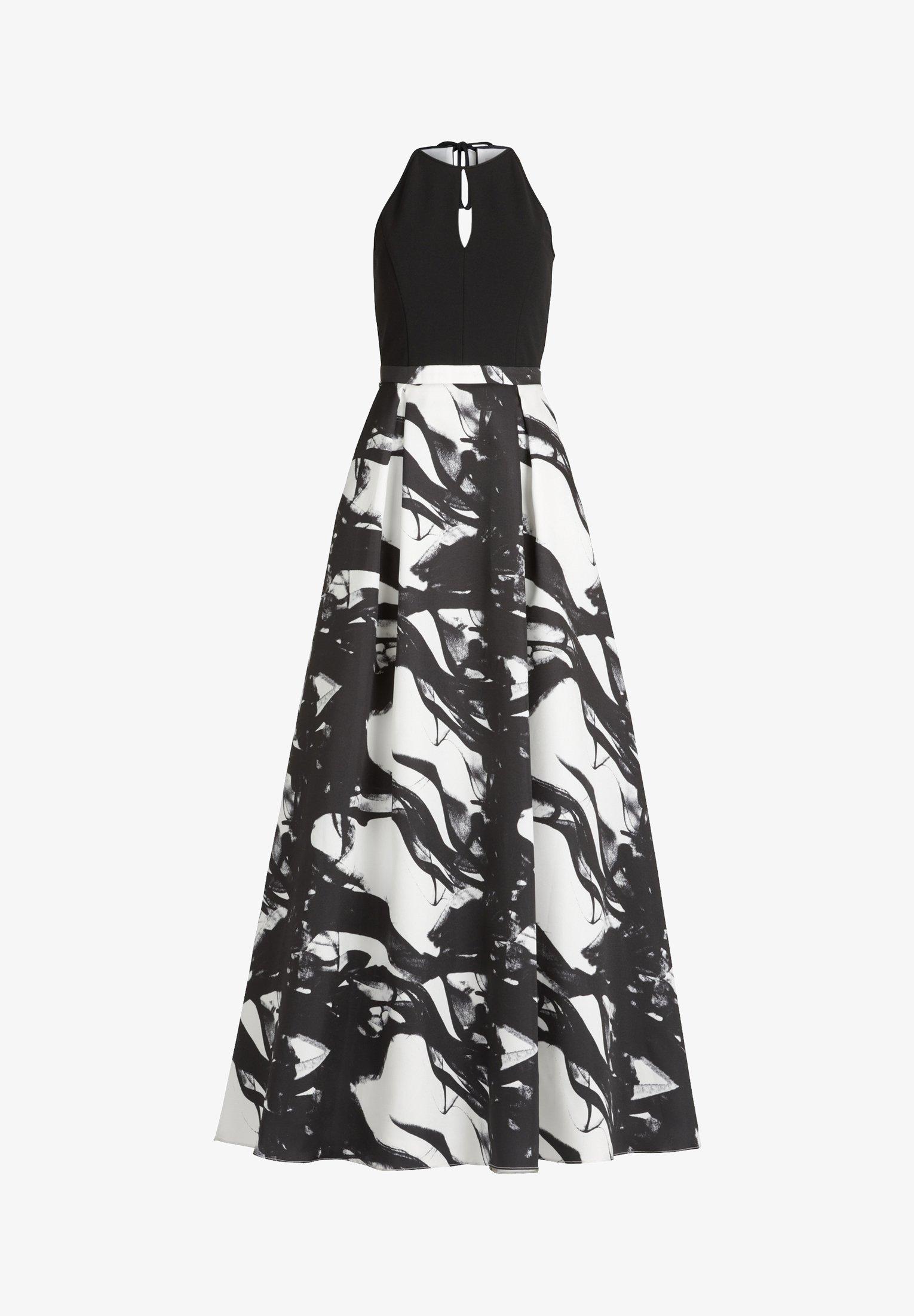 MIT SPITZE - Cocktailkleid/festliches Kleid - weiß/schwarz