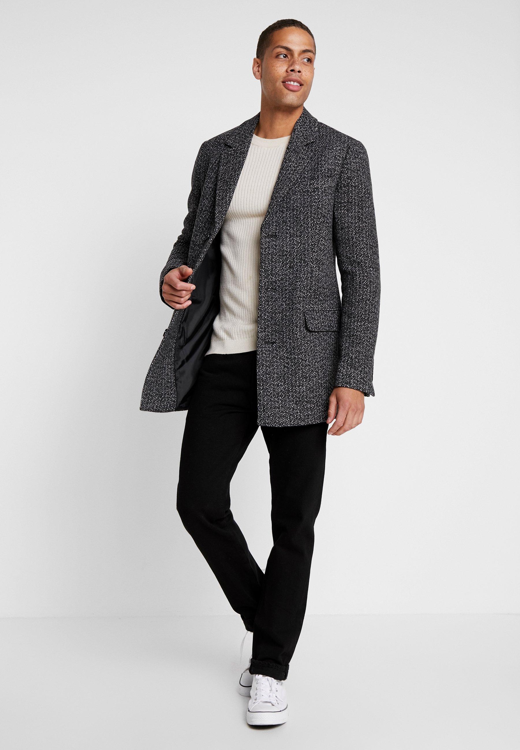 Płaszcz wełniany Płaszcz klasyczny grey