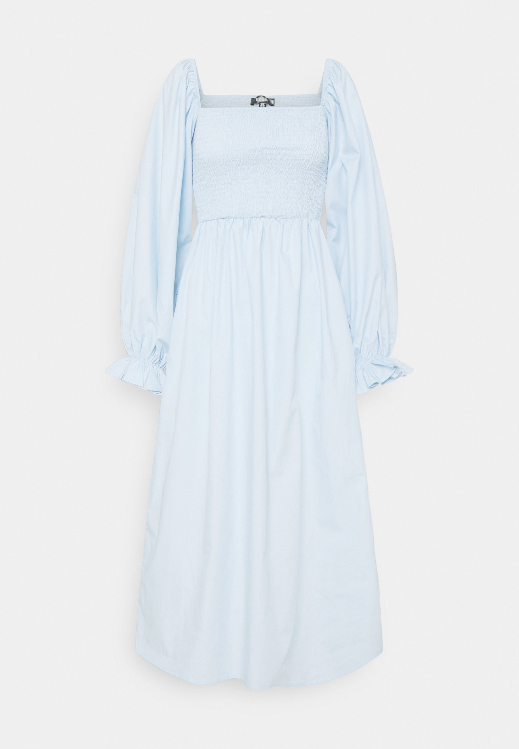 Women LONG SLEEVE SHIRRED DRESS - Day dress