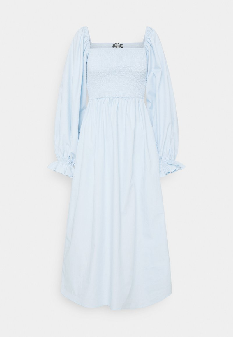 Missguided - LONG SLEEVE SHIRRED DRESS - Day dress - blue