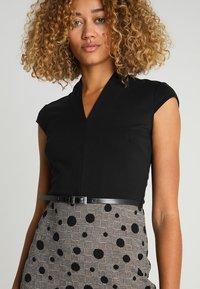 Anna Field - Shift dress - black/rose - 3