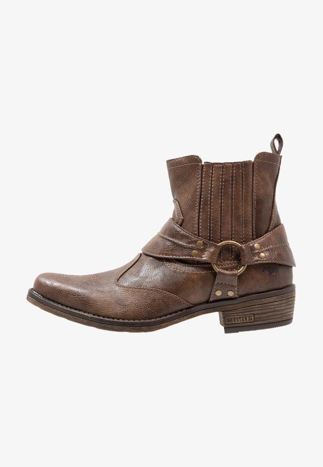 Cowboy- / bikerstøvlette - braun