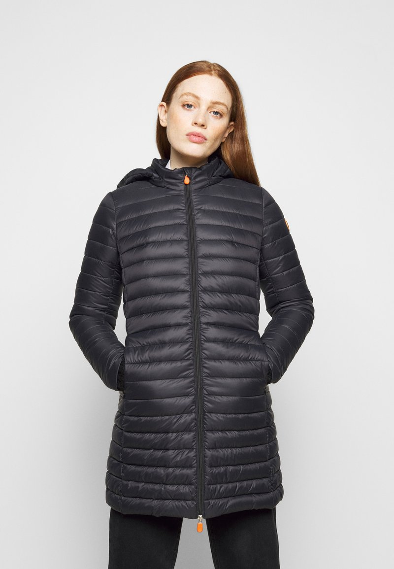 Save the duck - GIGA BRYANNA DETACHABLE HOODED - Winter coat - black