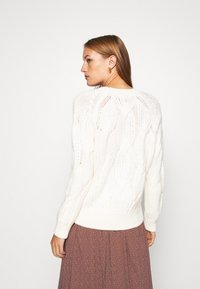 Selected Femme - SLFBEAN CABLE O NECK - Jumper - snow white - 2