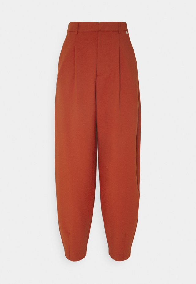 PANTS - Trousers - rusty red