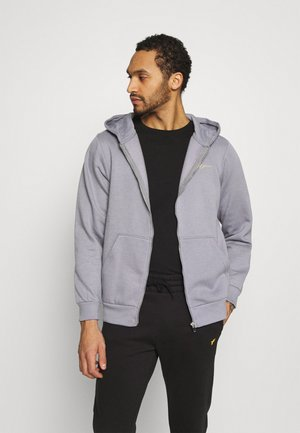ESSENTIAL RELAXED ZIP TRHOUGH HOODIE UNISEX - Zip-up hoodie - grey