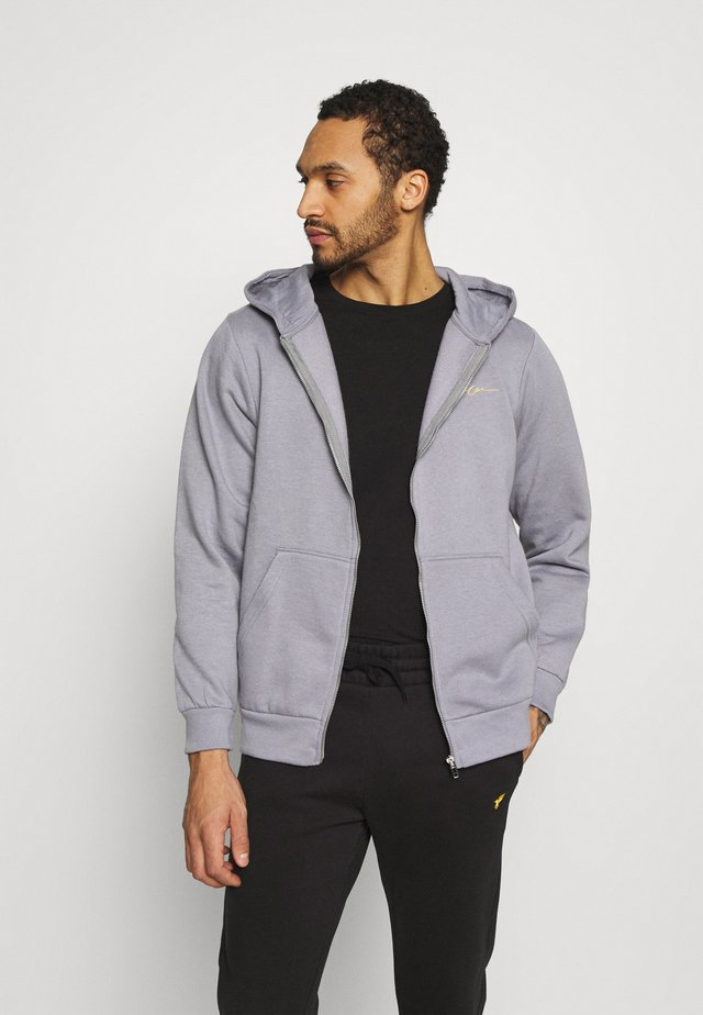 ESSENTIAL RELAXED ZIP TRHOUGH HOODIE UNISEX - Mikina na zip - grey