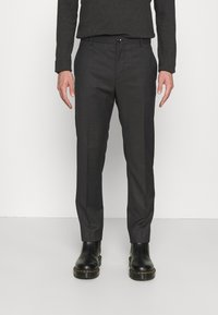 Calvin Klein Tailored - TWILL STRUCTURE PANT - Trousers - dark grey heather - 0
