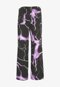 Jaded London - PURPLE LIGHTNING SKATE JEAN - Jeans baggy - black/purple - 1