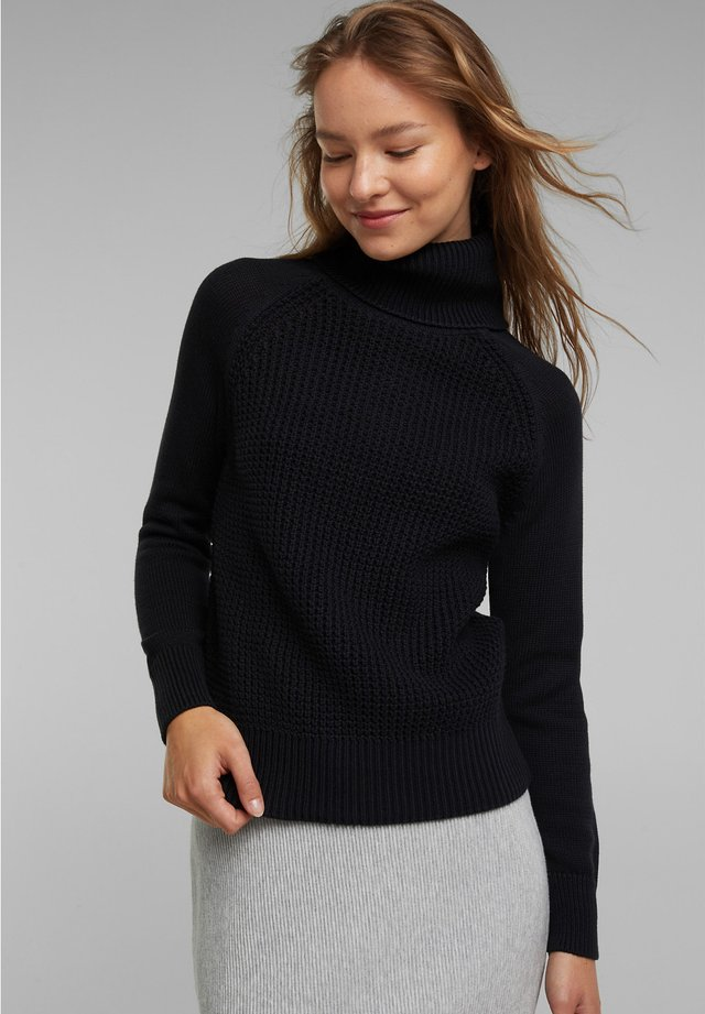 COWL NECK - Jumper - black