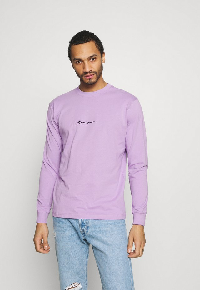 ESSENTIAL SIGNATURE UNISEX - Top s dlouhým rukávem - purple