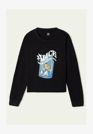 MIT DISNEY ALICE - Sweatshirt - nero st alice in wonderland