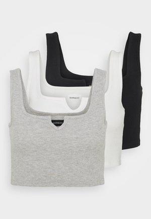3 PACK  - Toppi - black/white/mottled light grey
