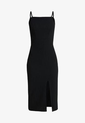 STRAPPY SQUARE NECK MIDI DRESS - Vestido de tubo - black