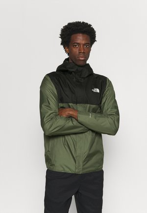 QUEST ZIP IN JACKET - Chaqueta Hard shell - thyme/black