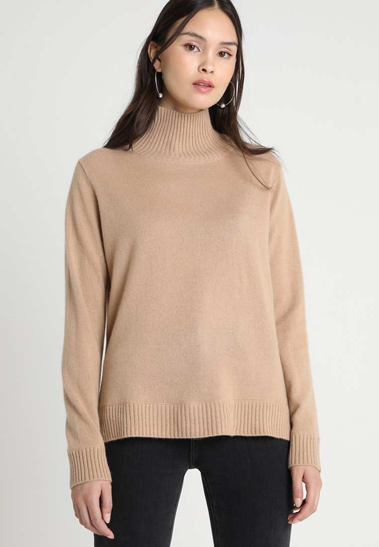 JOIN Stickad tröja camel