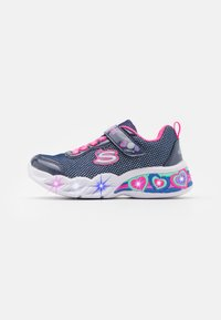 Skechers - SWEETHEART LIGHTS - Tenisky - navy/neon pink/multicolor - 0