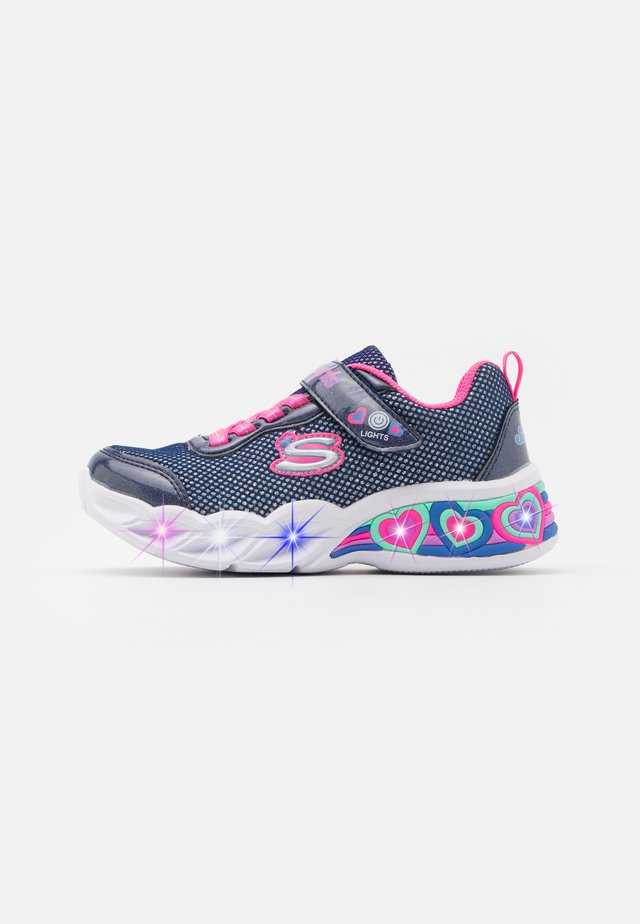 SWEETHEART LIGHTS - Sneakers laag - navy/neon pink/multicolor