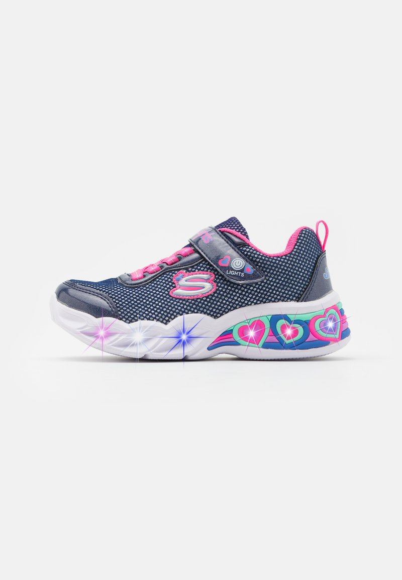 Skechers - SWEETHEART LIGHTS - Tenisky - navy/neon pink/multicolor