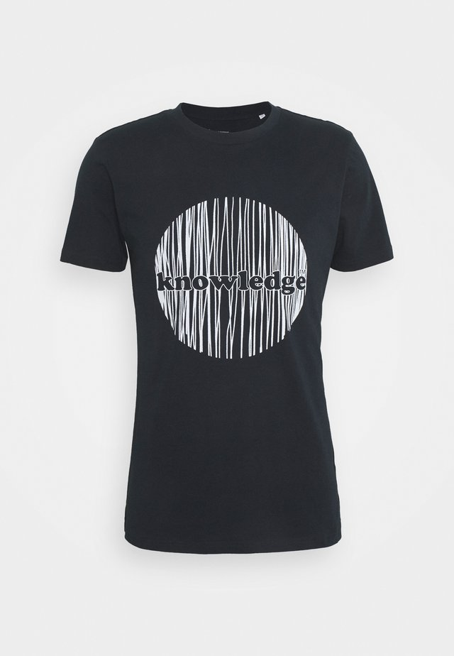 ALDER KNOWLEDGE CIRCLE TEE - T-shirt print - total eclipse