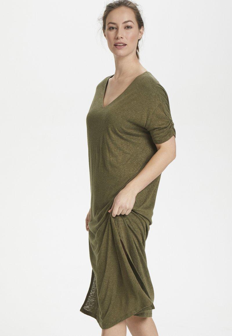 Cream - PITTACR  - Jersey dress - burnt olive