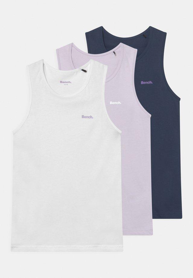 CARLOTTA 3 PACK - Top - white/lilac/navy