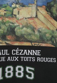 Vintage Supply - CEZANNE ARTS PRINT HOODIE - Felpa - black - 3