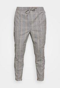 SILVIO SMART JOGGERS - Trousers - grey/gold
