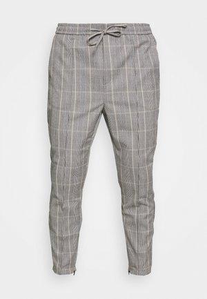 SILVIO SMART JOGGERS - Pantalon classique - grey/gold