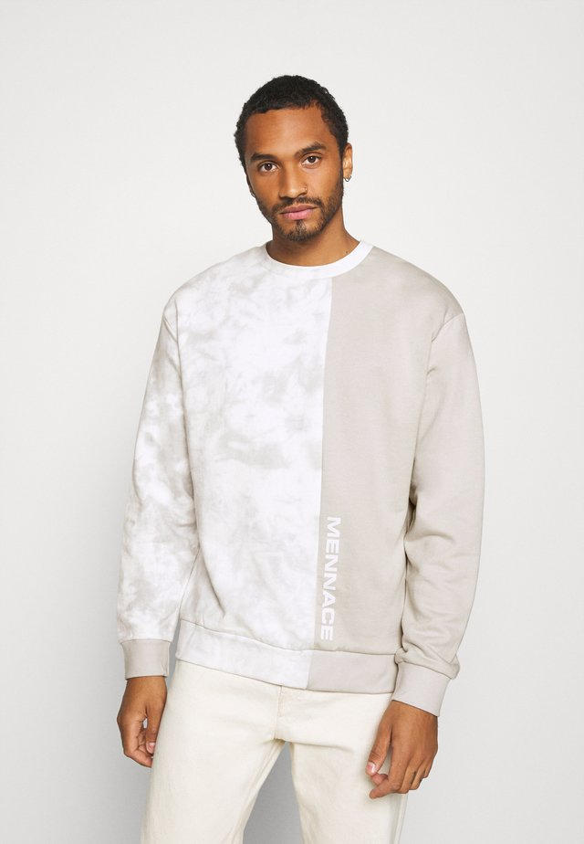 SPLICE TIE DYE PANEL - Sweatshirt - stone