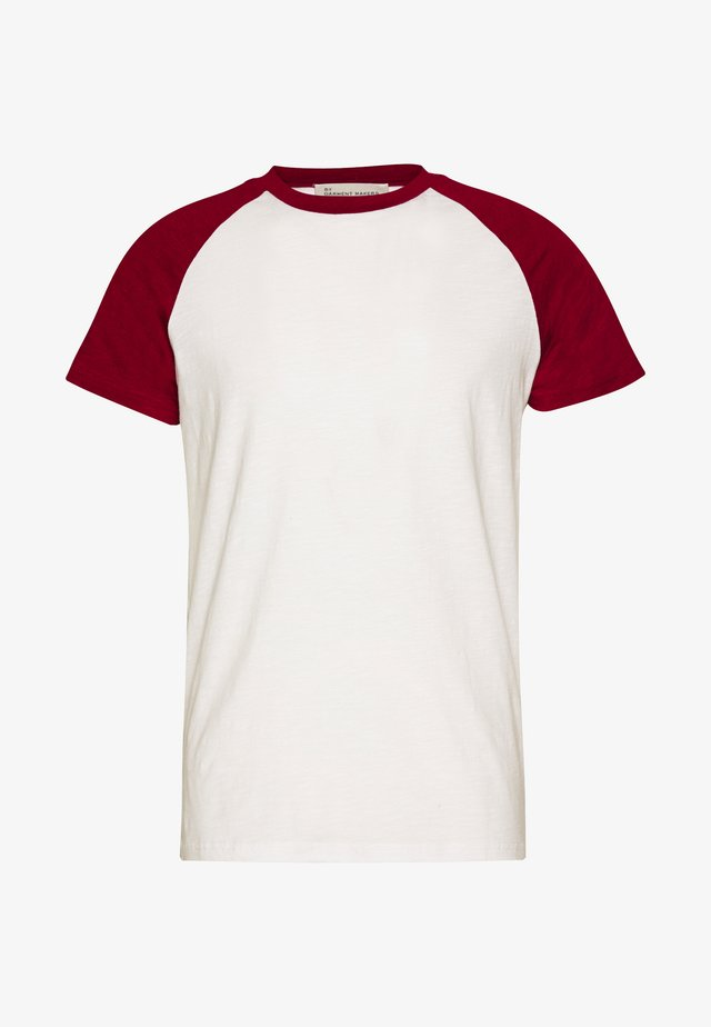 UNISEX SVEN - T-shirt print - merlot