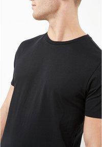 Next - CREW - Basic T-shirt - black - 2