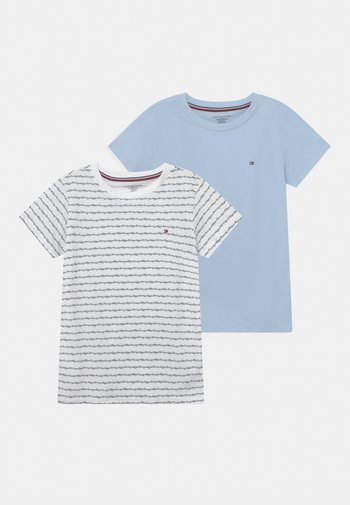 TEE 2 PACK - Pyjama top - blue/white