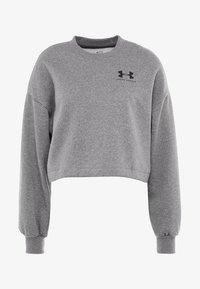 Under Armour - RIVAL GRAPHIC CREW - Sweatshirt - jet gray medium heather/black - 4