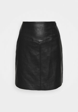 PEPA - Áčková sukně - black