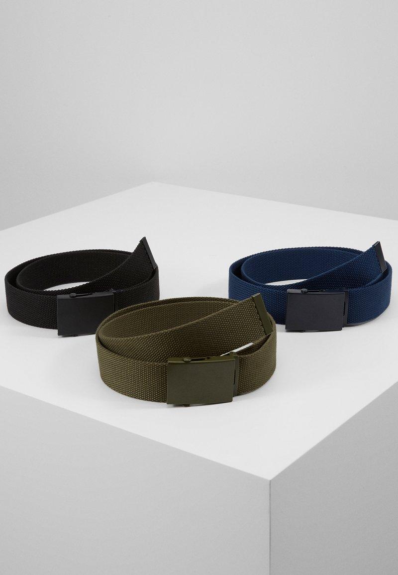 Pier One - UNISEX - Riem - black/dark blue/khaki