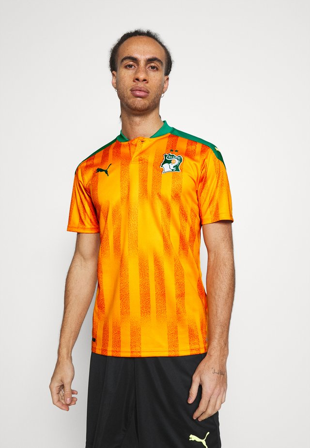 ELFENBEINKÜSTE FIF HOME SHIRT REPLICA - National team wear - flame orange/pepper green