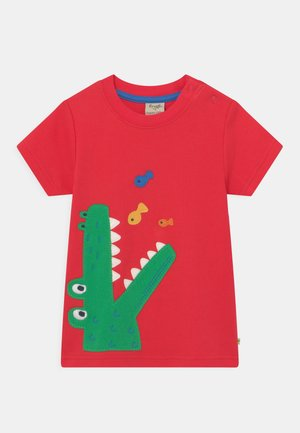CARSEN APPLIQUE CROC - Print T-shirt - true red