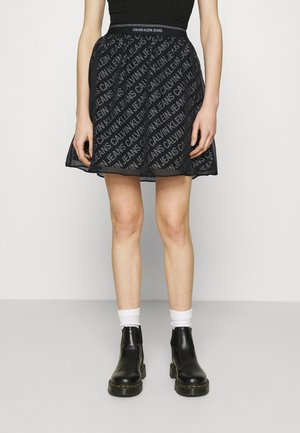 LOGO WAISTBAND SKIRT - Mini skirt - black