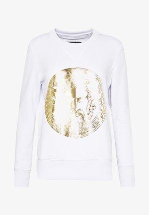 LADY LIGHT SWEATER - Sweater - white/gold