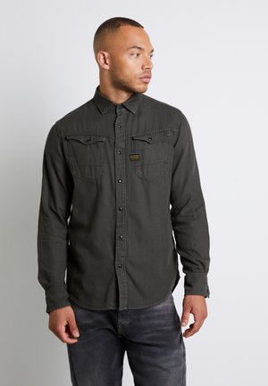 ARC  SLIM  L\S ASFALT GD - Shirt - asfalt gd