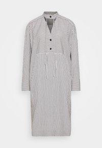 Proenza Schouler White Label - STRIPED PAJAMA CAFTAN - Denní šaty - optic white/cream/black - 0